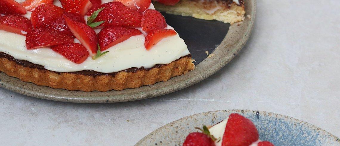 b93f526bc68 Klassisk jordbærtærte