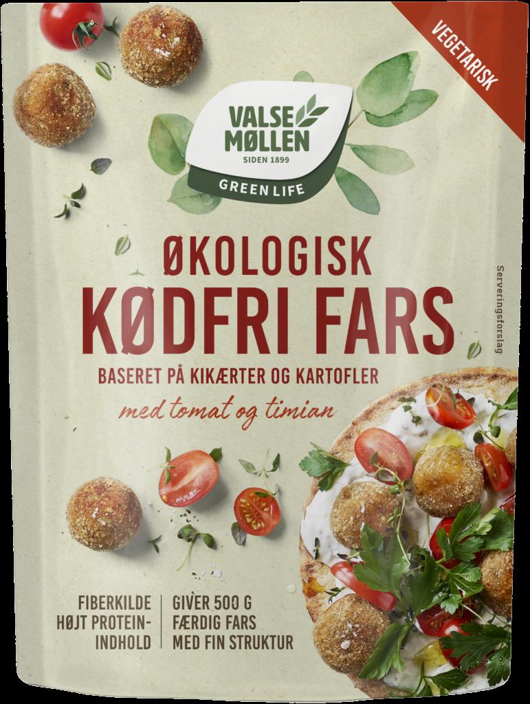 Valsemøllen Green Life Økologisk Kødfri Fars – Tomat og timian
